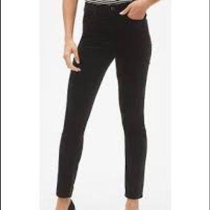 Gap high rise true skinny black jean